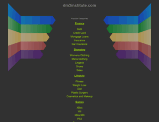 marketing.dm3institute.com screenshot