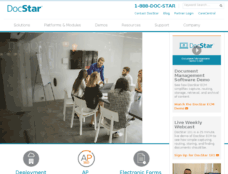 marketing.docstar.com screenshot