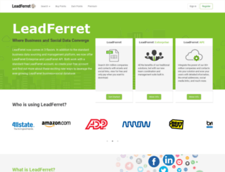 marketing.leadferret.com screenshot