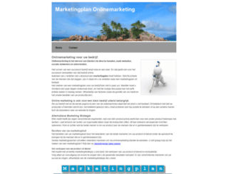 marketingplan-onlinemarketing.nl screenshot