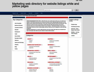 marketingwebdirectory.com screenshot