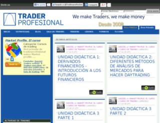 marketprofile.traderprofesional.com screenshot