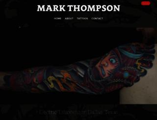 markthompsontattoo.com screenshot