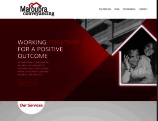 maroubraconveyancing.com.au screenshot