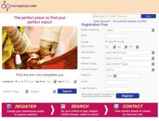 marriagelogin.com screenshot
