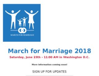 marriagemarch.org screenshot