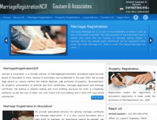 marriageregistrationncr.com screenshot