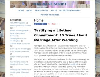 marriagescript.com screenshot