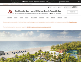 marriottharborbeach.com screenshot
