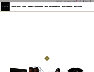 marshallamps.com screenshot