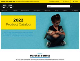 marshallferrets.com screenshot