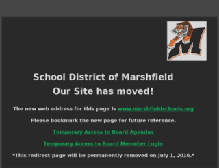 marshfield.k12.wi.us screenshot