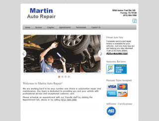 martinautorepair.com screenshot