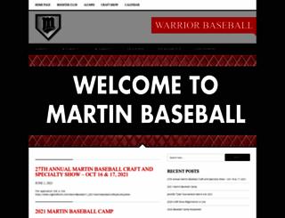 martinbaseball.com screenshot