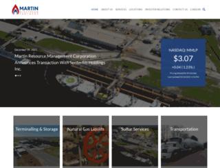 martinmidstream.com screenshot
