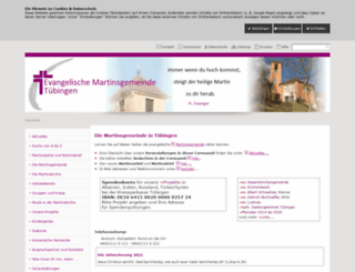 martinsgemeinde-tuebingen.de screenshot