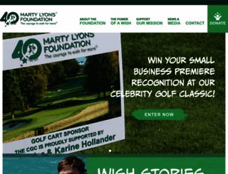 martylyonsfoundation.org screenshot