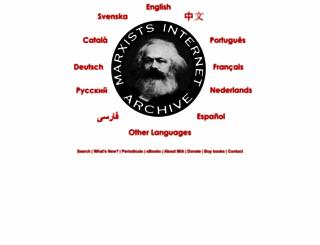 marxists.org screenshot