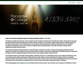 marygrove.edu screenshot