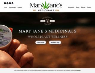 maryjanesmedicinals.com screenshot