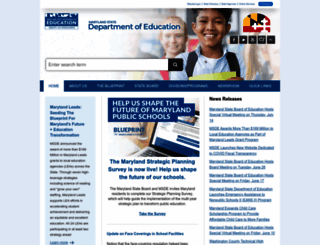 marylandpublicschools.org screenshot