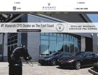 maserati.rdsautomotivegroup.com screenshot