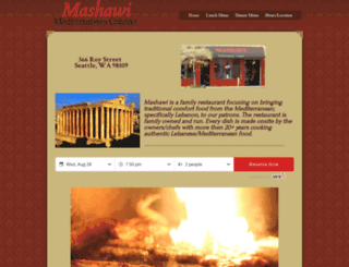 mashawirestaurant.com screenshot