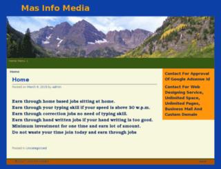 masinfomedia.co.in screenshot