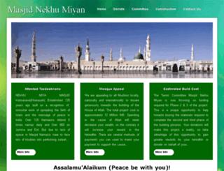 masjidnekhumiyan.com screenshot