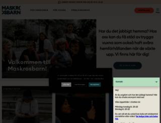 maskrosbarn.org screenshot