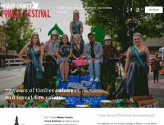 masoncountyforestfestival.com screenshot