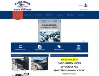 masondixonautoauction.com screenshot