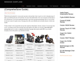massagechairland.com screenshot
