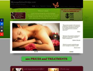 massageincambridge.com screenshot