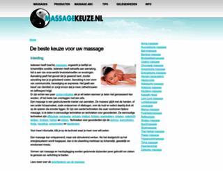 massagekeuze.nl screenshot