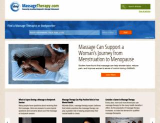 massagetherapy.com screenshot