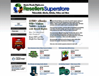 master-resale-rights.com screenshot