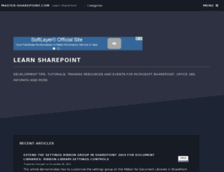master-sharepoint.com screenshot