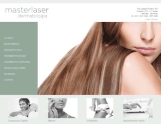 masterlaserdermatologia.com.br screenshot