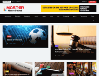 mastermousepatrol.com screenshot