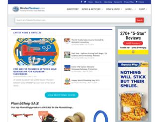 masterplumbers.com screenshot