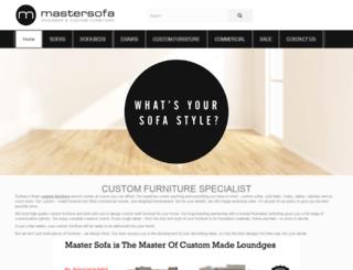 mastersofa.com.au screenshot