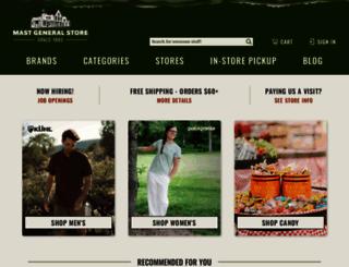 mastgeneralstore.com screenshot