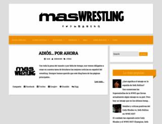 maswrestlingspain.blogspot.com.es screenshot