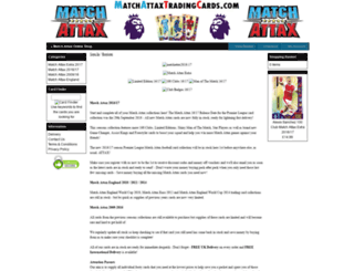 matchattaxtradingcards.com screenshot