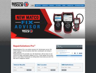matco.carscan.com screenshot