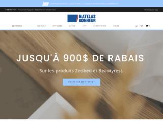matelasbonheur.ca screenshot
