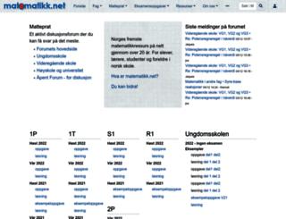matematikk.net screenshot