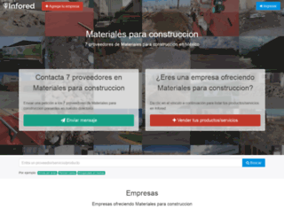 materiales-para-construccion.infored.com.mx screenshot