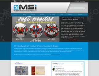 materialscience.uoregon.edu screenshot
